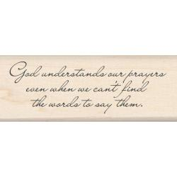 Inkadinkado God Understands Our Prayers Mounted Rubber Stamp