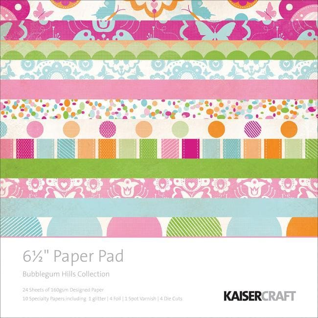Bubblegum Hills Scrapbook Paper Pad Pack