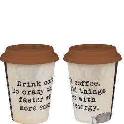 Konitz 'Crazy and Stupid' Travel Mugs (Set of 2)