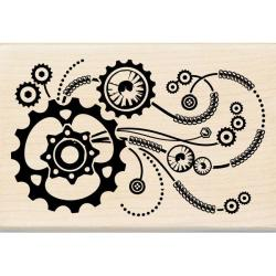 Inkadinkado Steampunk Flourish Mounted Rubber Stamp