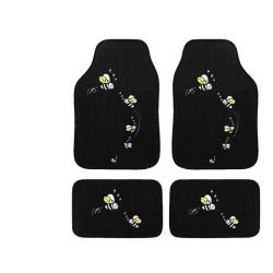 Automotive 4-piece Bees Embroidered Floor Mat Set