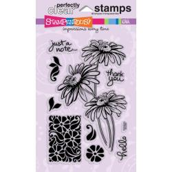 Stampendous Perfectly Daisy Stem Trio Clear Stamps