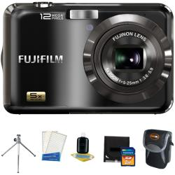 Fujifilm FinePix AX200 12MP Black Digital Camera with 2GB Kit (Refurbished)