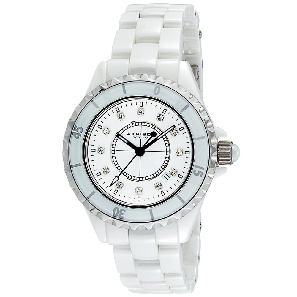 Overstock.com Akribos XXIV Quartz Date Women's Ceramic Bracelet Watch at Sears.com