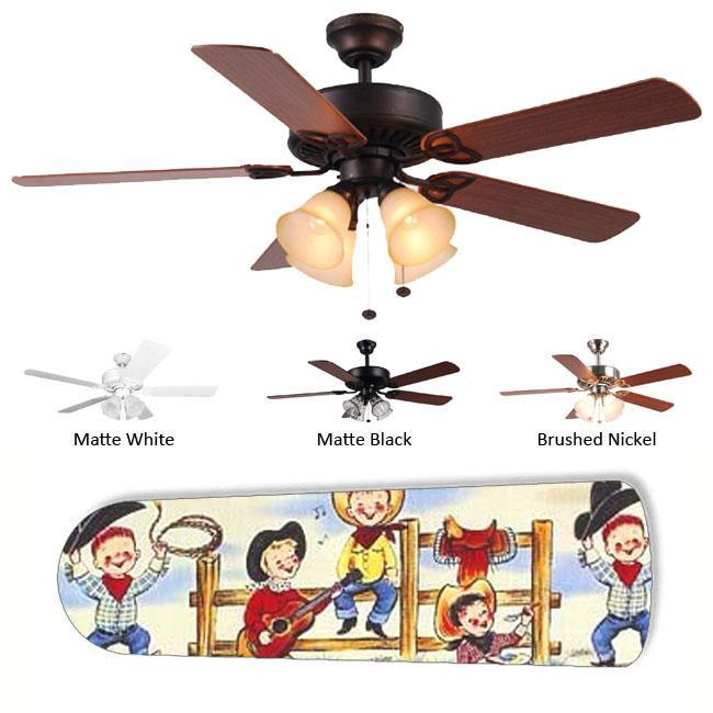 New Image Concepts 4-light Cowboy Kids Ceiling Fan