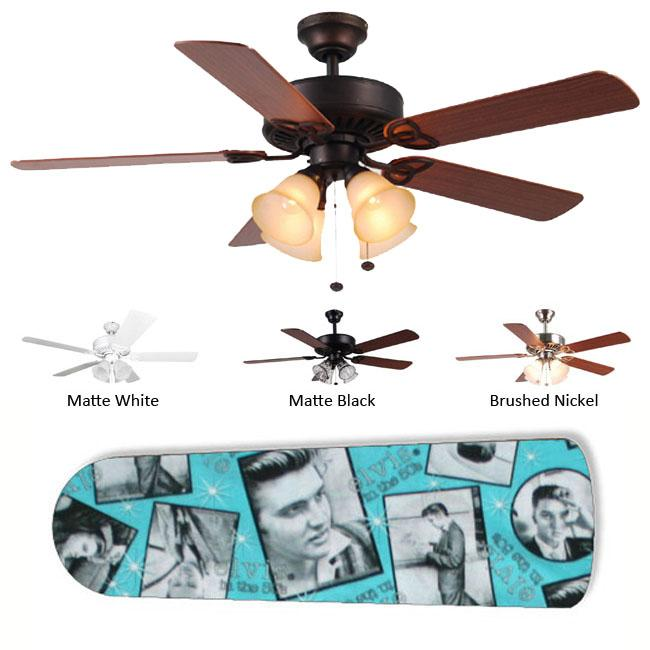 New Image Concepts 4-light Elvis Blade Ceiling Fan