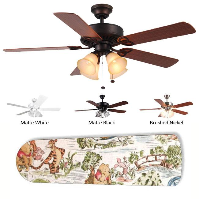 New Image Concepts 4-Light Winnie the Pooh Ceiling Fan