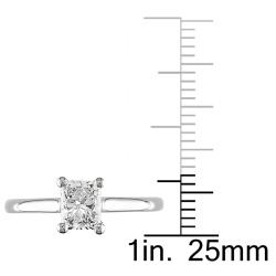 Miadora 18k Gold 1 1/10ct TDW Certified Diamond Solitaire Engagement Ring (F-G, SI1)
