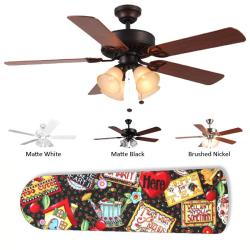 New Image Concepts 4-light Mary Engelbreit Blade Ceiling Fan