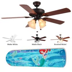 New Image Concepts 4-Light Little Mermaid Ceiling Fan
