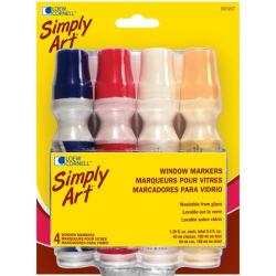 Simply Art 1.35-oz Window Markers (Pack of 4)