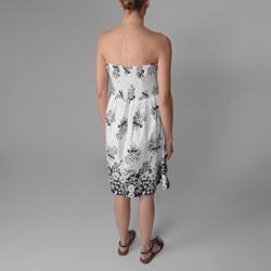 Provogue Juniors Floral Print Strapless Dress
