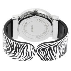 Geneva Platinum Women's Zebra Cuff Watch