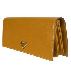 Prada BP0412 Camel Leather Clutch