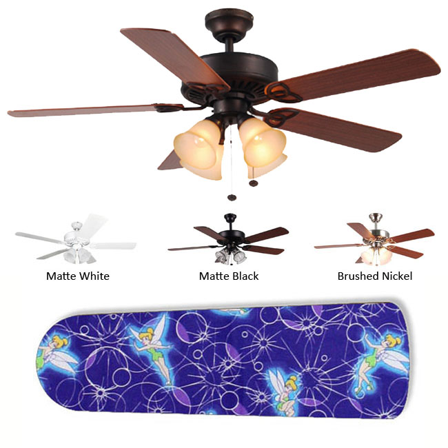New Image Concepts 4-Lamp 'Purple Tinkerbell' Ceiling Fan