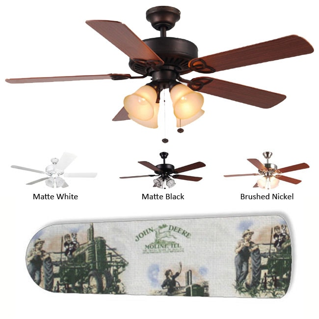 New Image Concepts 4-Lamp 'Vintage John Deere' Ceiling Fan
