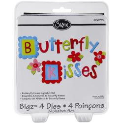 Sizzix Bigz BIGkick and Big Shot Alphabet Butterfly Kisses Die Set