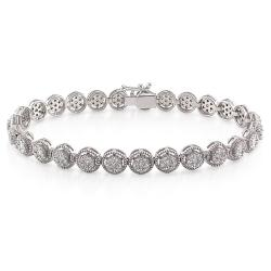18k White Gold 2 3/4ct TDW Diamond Tennis Bracelet (G-H, SI1-SI2)