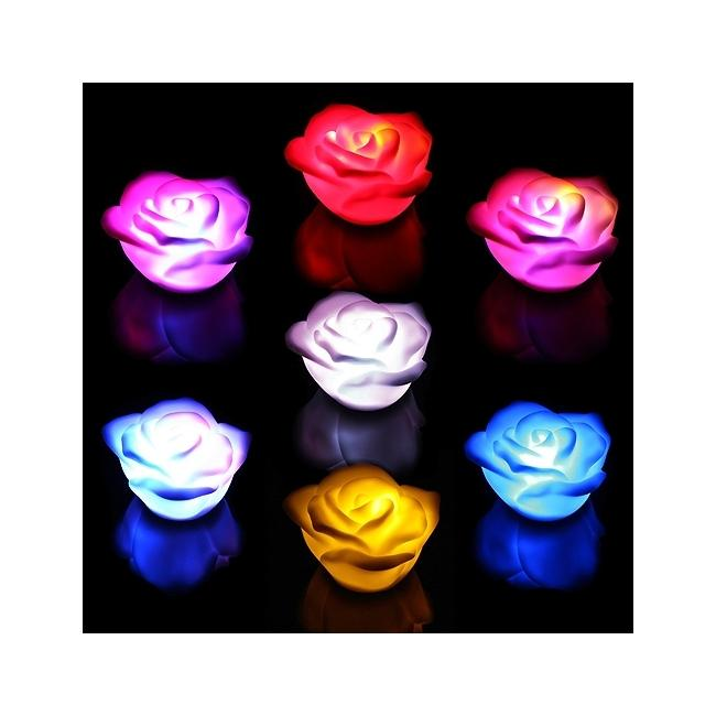 Battery Powered Multi color LED Rose Light