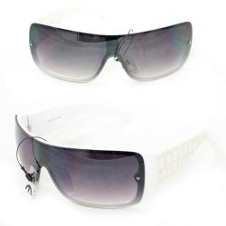 Men's P1490 White Plastic Wrap Sunglasses