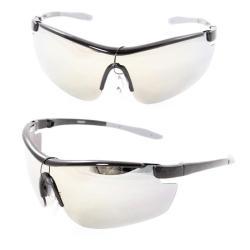 Men's PS80261 Black Plastic Wrap Sunglasses