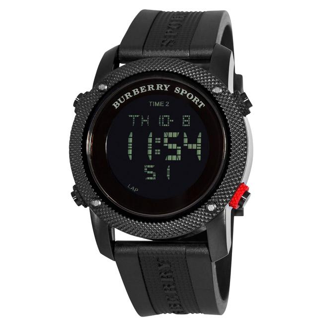Burberry Men's 'Digital Sport' Black Ion-plated Watch