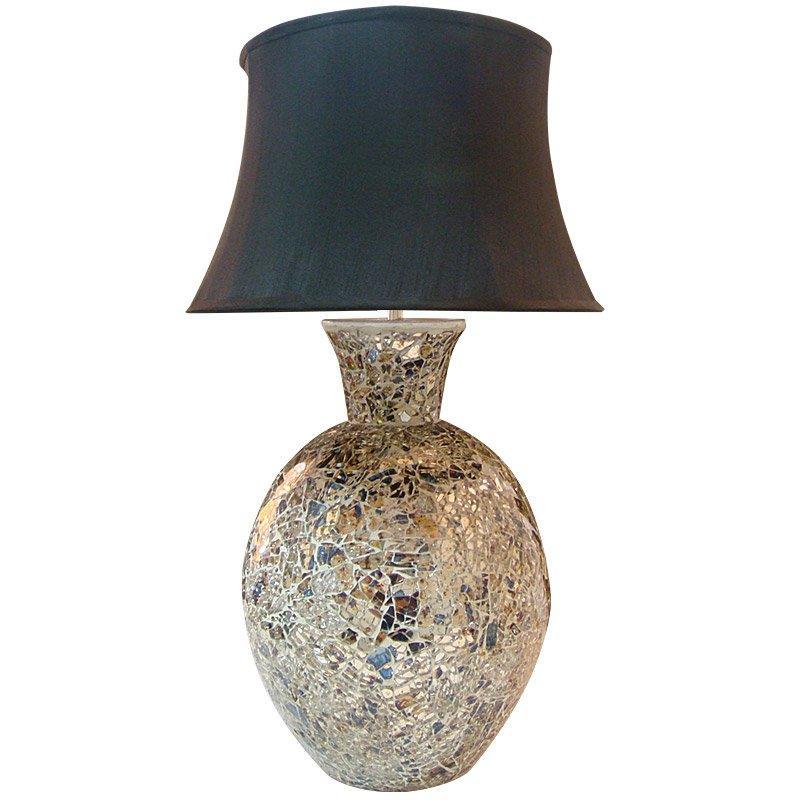 Sunshine Mint Glass 1-light Mosaic Table Lamp