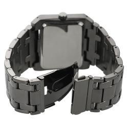 Geneva Platinum Men's Brushed Finish Link Watch