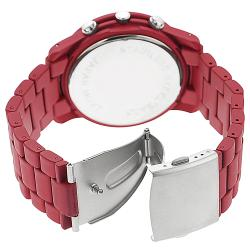 Geneva Platinum Women's Chronograph-style Matte-finish Link Watch