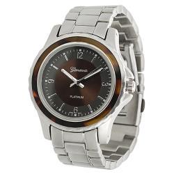 Geneva Platinum Women's Tortoise Link-style Watch