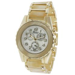 Geneva Platinum Women's Chronograph-style Ivory Link Watch