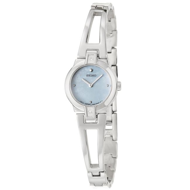 Seiko Women's 'Dress' Stainless Steel Quartz Diamond Watch