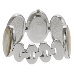Geneva Platinum Women's Ivory Link Watch