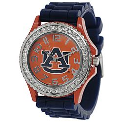 Geneva Platinum Women's Rhinestone-accented Auburn Tigers Watch