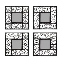 Square Mirror Wall Decor (Set of 4)
