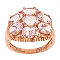 D'Yach D'yach Rose gold over Sterling Silver, Morganite and Diamonds Ring
