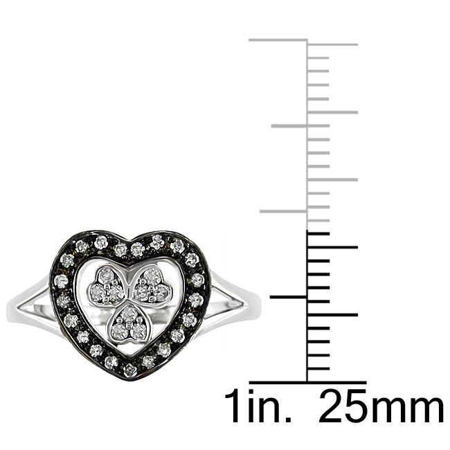 10k White Gold 1/5ct TDW Diamond Heart Ring (G-H, I2-I3)