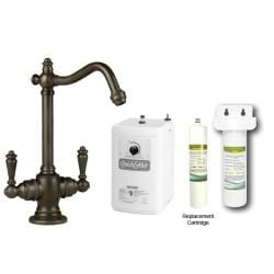 Westbrass Oil Rubbed Victorian Hot/ Cold Water Dispenser Faucet with Under-counter Filter Kit