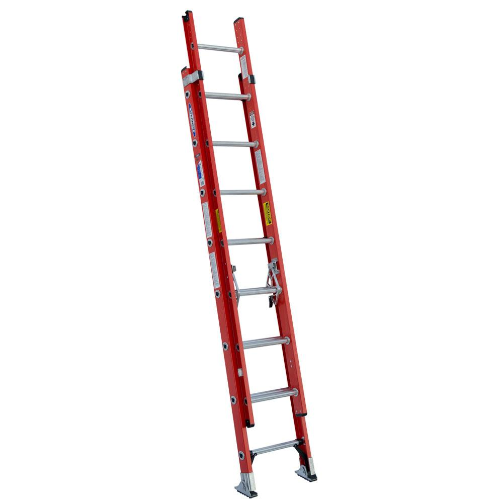 Werner 16 Foot Fiberglass Extension Ladder 13656644