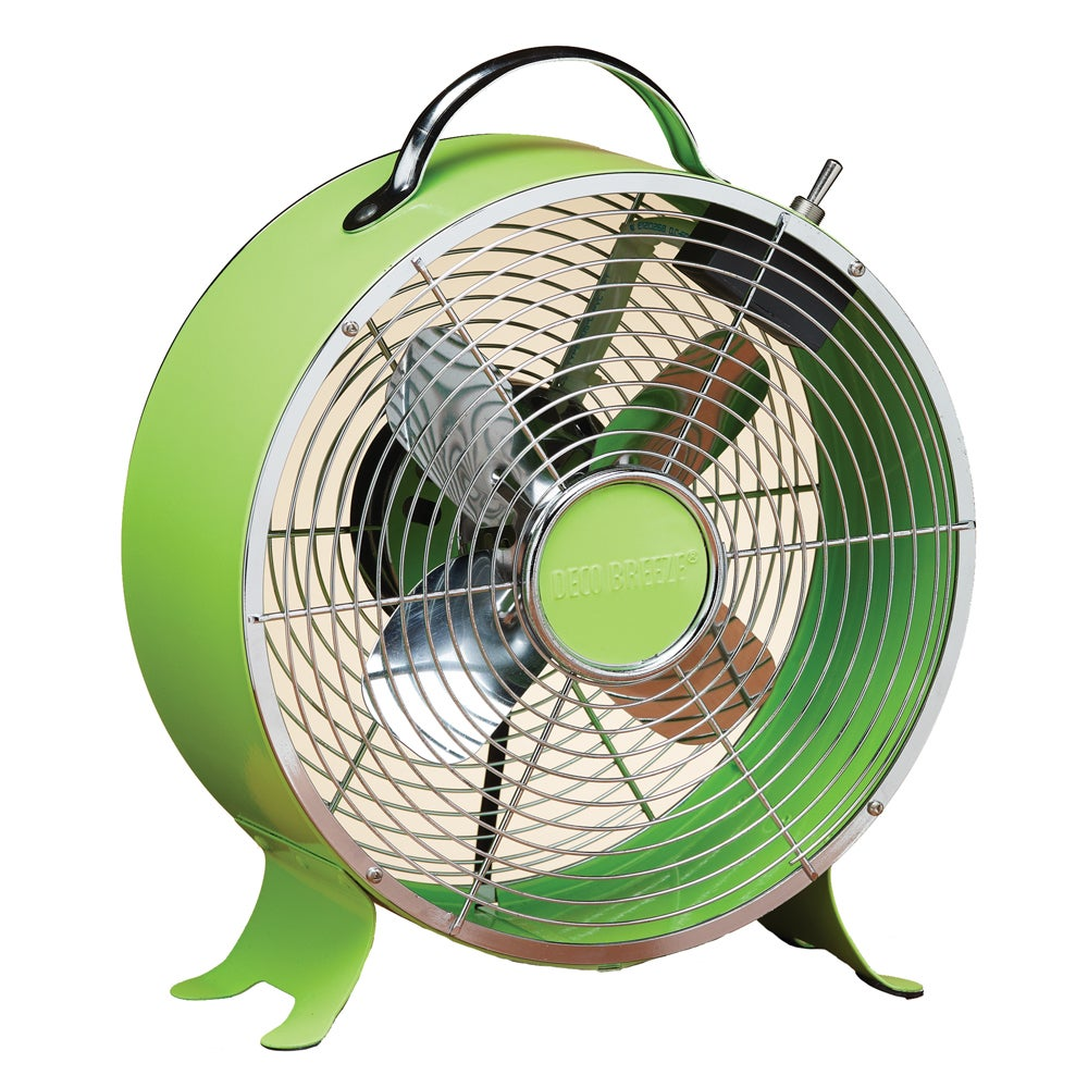 Deco Breeze DBF0637 9-inch Lime Green Retro Fan