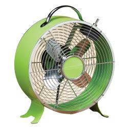 Deco Breeze DBF0637 9-inch Lime Green Retro Fan
