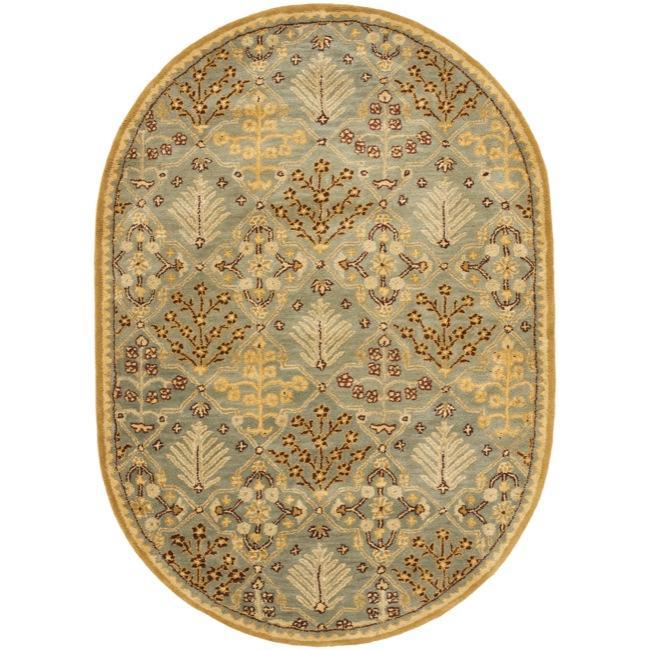 Safavieh Handmade Tree Of Life Slate Blue Wool Rug (7'6 X