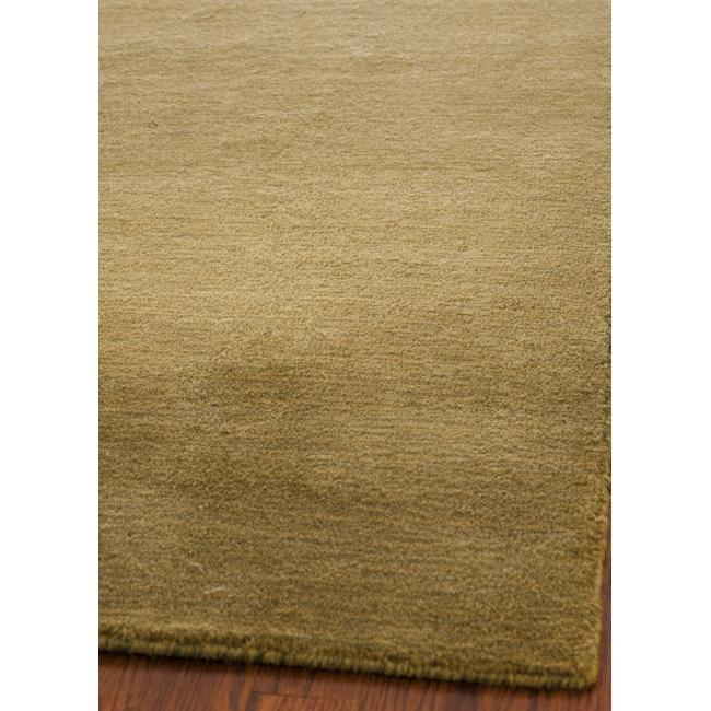 Safavieh Loomed Knotted Himalayan Solid Green Wool Rug (8' x 10')