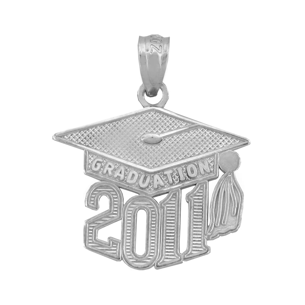 Sterling Silver 2011 Graduation Charm Necklace