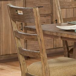 Nat Driftwood Acacia Wood Country Side Chairs (Set of 2)