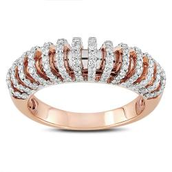 Miadora 18k Pink Gold 5/8ct TDW Diamond  Ring (G-H, SI1-SI2)