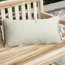 Charisma Outdoor Textured Green Pillow Made with Sunbrella