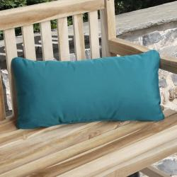 Charisma Outdoor Teal Blue Pillow Made with Sunbrella