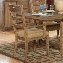 Nat Driftwood Acacia Wood Country Arm Chairs (Set of 2)