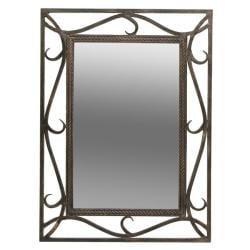 Dreamline Wrought Iron Stand Rectangular Iron Mirror Emperador Sink 13658808
